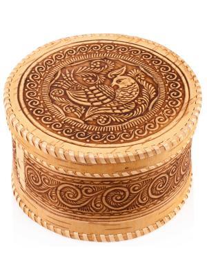 Шкатулка Птичка Aztek. Цвет: светло-коричневый
