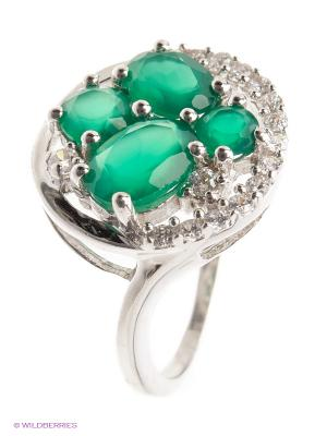 Кольцо BALEX. Цвет: серебристый, темно-зеленый