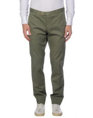 Повседневные брюки GERMANO. Цвет: зеленый-милитари