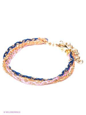 Браслет La Mer Collections. Цвет: розовый, синий, светло-оранжевый