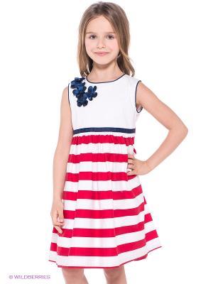 Платье Molly Rou. Цвет: белый, красный