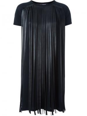 Платье с бахромой Neil Barrett. Цвет: чёрный