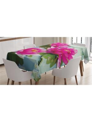 Скатерть с фотопринтом 120x145  см Magic Lady. Цвет: зеленый, коралловый, розовый