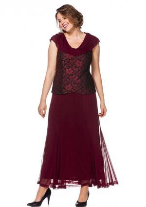 Платье sheego. Цвет: синий