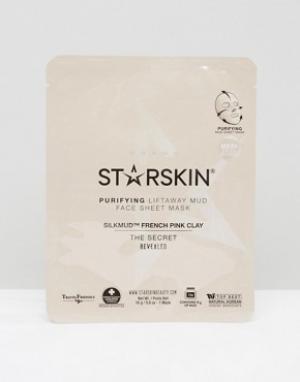 Starskin Розовая маска для лица с глиной в виде кота Silkmud. Цвет: бесцветный