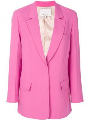 Блейзер с декоративной строчкой 3.1 Phillip Lim. Цвет: розовый и фиолетовый