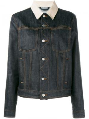 Джинсовая куртка с заплаткой логотипом Holiday. Цвет: синий