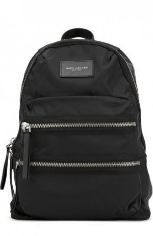 Рюкзак Nylon Biker с отделкой из кожи Marc Jacobs. Цвет: черный