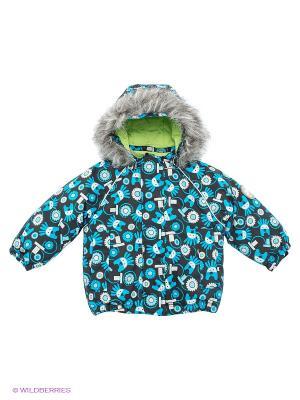 Куртка KUUTTI. Цвет: черный, голубой