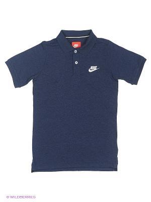 Футболка-поло FRANCHISE J POLO YTH Nike. Цвет: синий