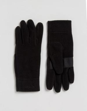 Patagonia Черные перчатки Micro D. Цвет: черный