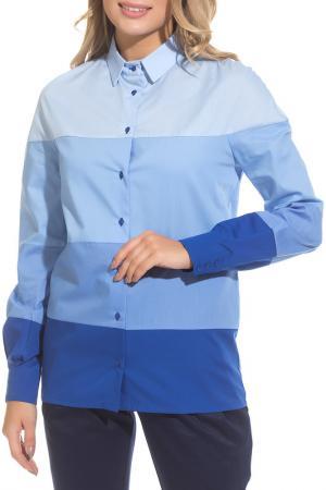 Рубашка Gloss. Цвет: синий, голубой