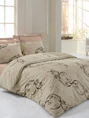 Постельное белье Мелита Тет-а-Тет. Цвет: бледно-розовый, кремовый