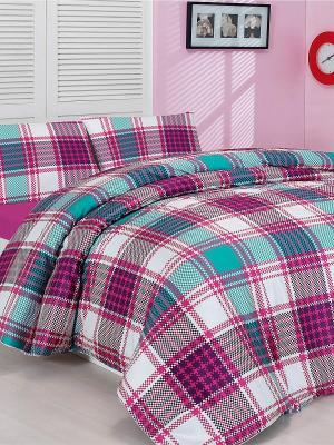 Комплект постельного белья Altinbasak. Цвет: розовый, синий