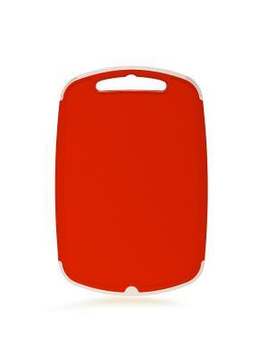Доска разделочная Премиум 290*190 Полимербыт. Цвет: красный