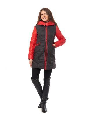 Пальто Best&Best. Цвет: красный, серый