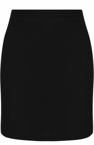 Однотонная шерстяная мини-юбка Alessandra Rich. Цвет: черный