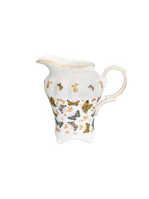 Кувшин Бабочки Elan Gallery. Цвет: золотистый, белый, желтый
