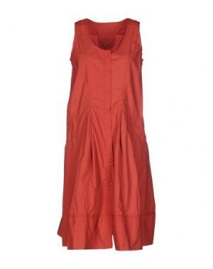 Короткое платье MARITHÉ + FRANÇOIS GIRBAUD. Цвет: кирпично-красный