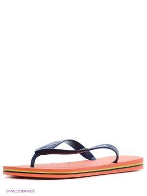 Шлепанцы Ipanema. Цвет: оранжевый