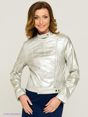 Куртка Allezye. Цвет: серебристый