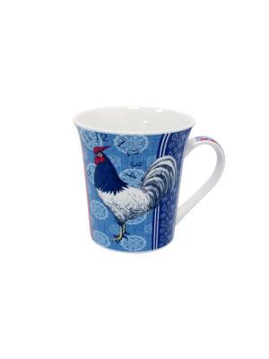 Кружка Великолепные петухи-5 350 мл п/уп (асс) Elff Ceramics. Цвет: синий, голубой, красный, белый