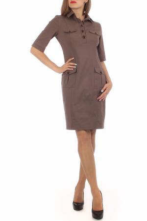 Платье Lamiavita. Цвет: коричневый