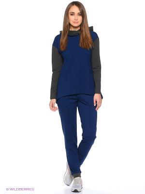 Спортивный костюм Габриэлла Runika. Цвет: темно-синий, антрацитовый