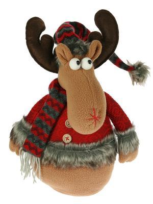 Новогодний сувенир Лосик Русские подарки. Цвет: коричневый