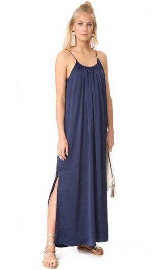 Платье Yvonne Knot Sisters. Цвет: темно-синий