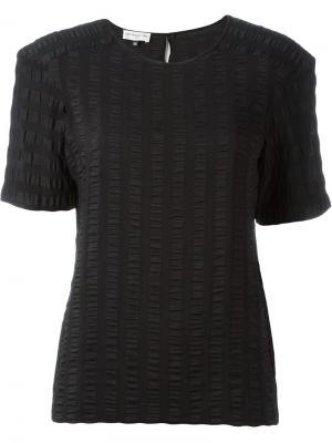 Блузка с рюшами Veronique Leroy. Цвет: чёрный