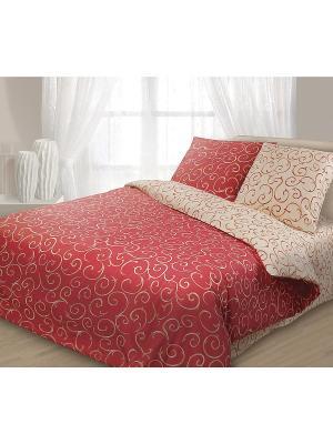 Комплект постельного белья, Барокко Волшебная ночь. Цвет: коричневый
