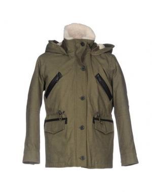 Куртка DENHAM. Цвет: зеленый-милитари