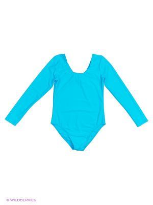 Гимнастический купальник EMDI. Цвет: светло-голубой
