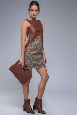 Платье VESPUCCI BY VSP. Цвет: brown, gray