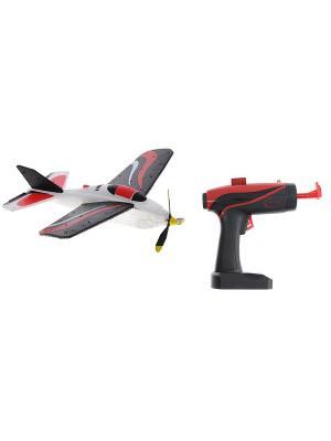 Самолет летающий с пусковым устройством Ястребок Красно-белый ВластелиНебес. Цвет: белый, красный