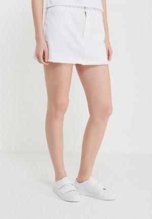 Юбка джинсовая Wrangler. Цвет: белый
