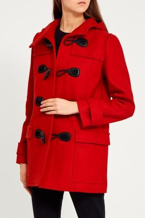 Пальто с контрастной застежкой Gucci. Цвет: красный