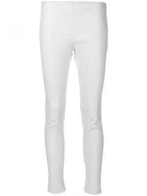 Кожаные леггинсы средней посадки Givenchy. Цвет: белый