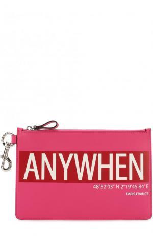 Кожаный футляр для документов  Garavani с принтом Valentino. Цвет: розовый