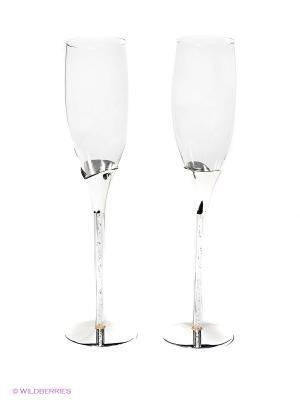 Набор бокалов, 2 шт. Marquis. Цвет: серебристый, прозрачный