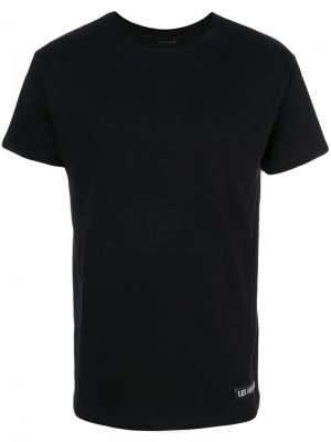 Классическая однотонная футболка Les (Art)Ists. Цвет: чёрный