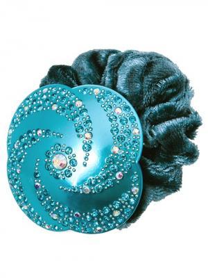 Резинка для волос City Flash. Цвет: бирюзовый, белый
