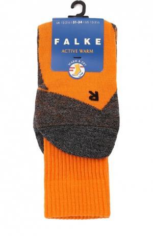 Утепленные носки Active Warm Falke. Цвет: оранжевый