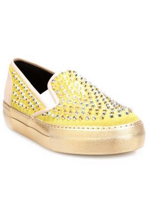 Слипоны Grey Mer. Цвет: yellow, gold