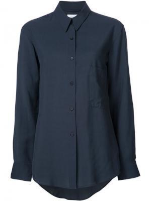 Рубашка с накладным карманом Lemaire. Цвет: синий