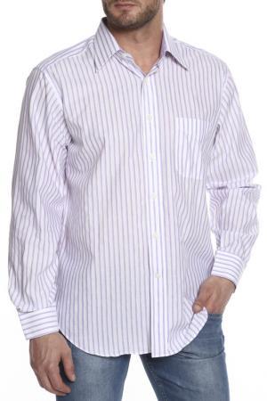Рубашка Dormeuil. Цвет: белый, фиалковый