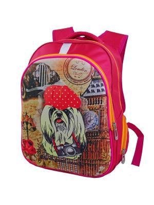 Ранец ученический Stelz. Цвет: бежевый, светло-желтый, розовый