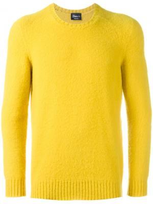 Джемпер с круглым вырезом Drumohr. Цвет: жёлтый и оранжевый