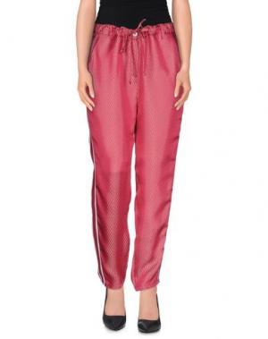 Повседневные брюки TERESA DAINELLI. Цвет: фуксия